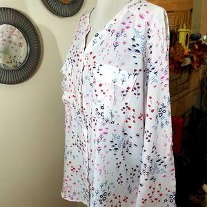 A.N.A. sz XL shirt 100% rayon super soft print